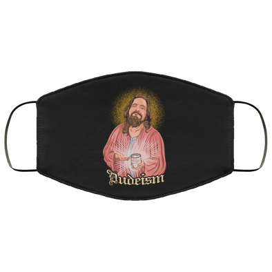 Dudeism Jesus Face Mask (ear loops)