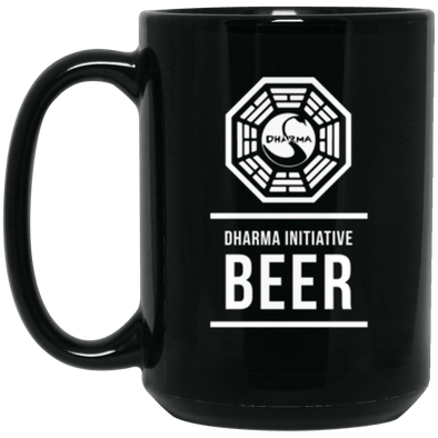 Dharma Beer Black Mug 15oz (2-sided)
