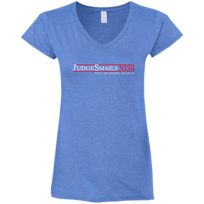 Judge Smails Ladies V-Neck