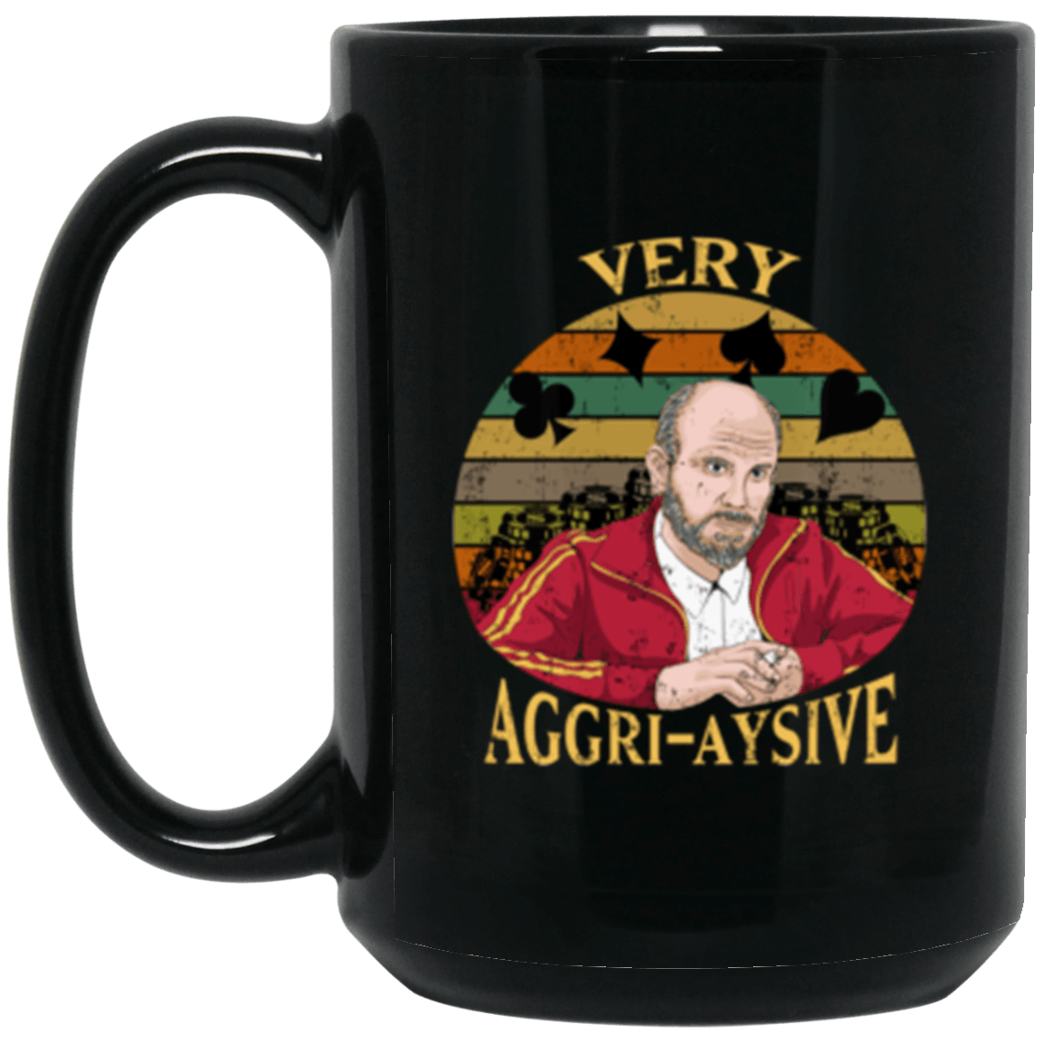 Aggressive Black Mug 15oz (2-sided)