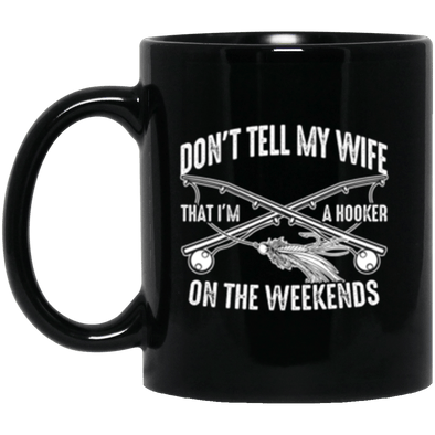 Fly Hooker Black Mug 11oz (2-sided)