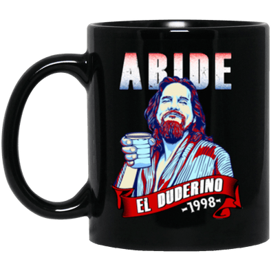 Duderino Abide Black Mug 11oz (2-sided)