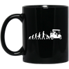 Golf Evolution Black Mug 11oz (2-sided)