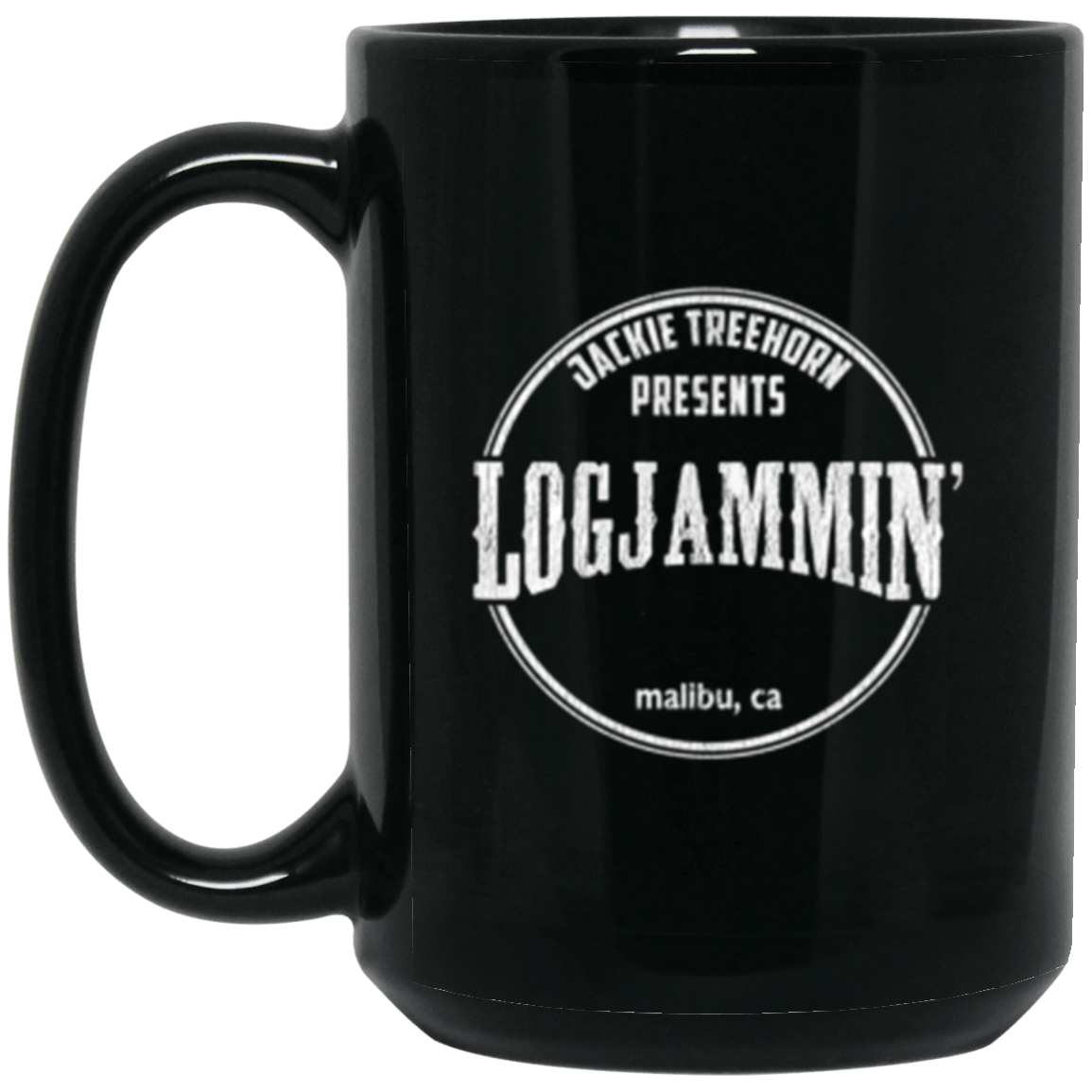 Logjammin' Black Mug 15oz (2-sided)