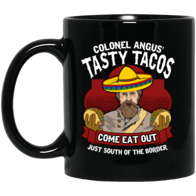 Tasty Tacos Black Mug 11oz (2-sided)
