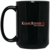 Keanu Reeves 20 Black Mug 15oz (2-sided)