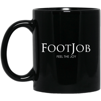 FootJob Black Mug 11oz (2-sided)