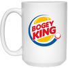 Bogey King White Mug 15oz (2-sided)