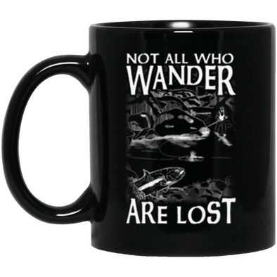 Not Lost Black Mug 11oz (2-sided)
