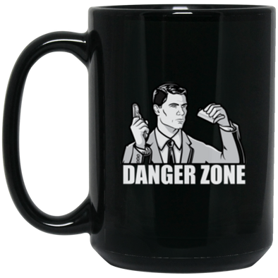 Danger Zone Black Mug 15oz (2-sided)