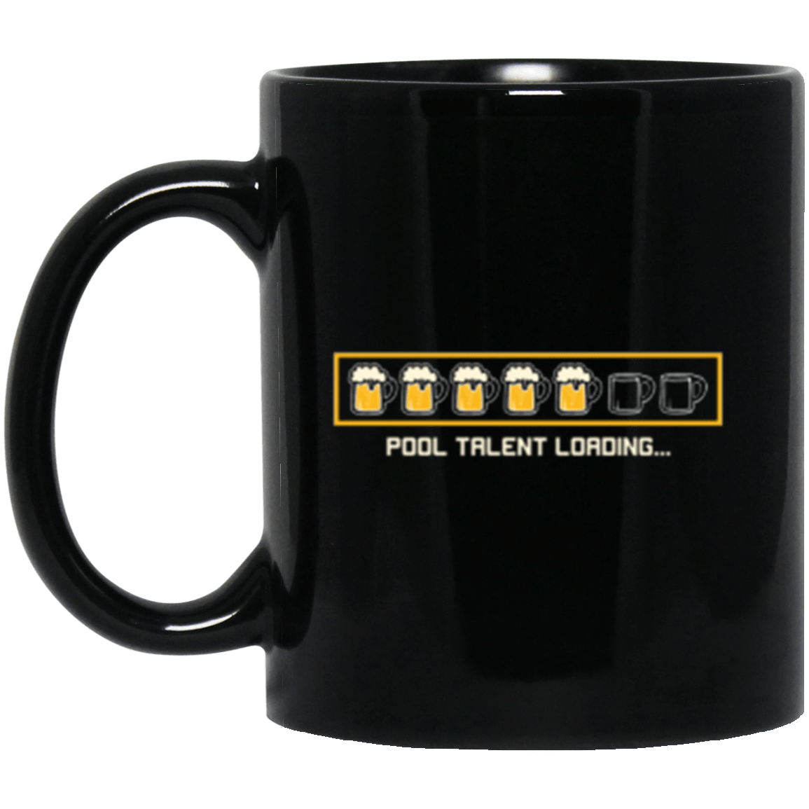 Pool Talent Black Mug 11oz (2-sided)