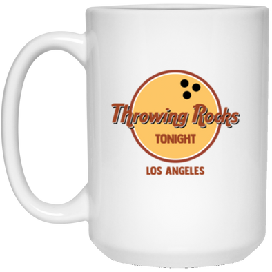 Throwing Rocks White Mug 15oz (2-sided)