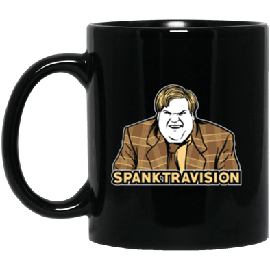 Spanktravision Black Mug 11oz (2-sided)