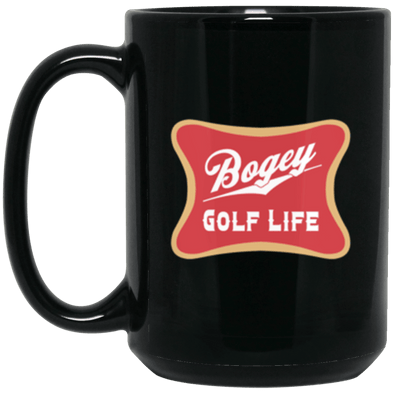Bogey Golf Black Mug 15oz (2-sided)