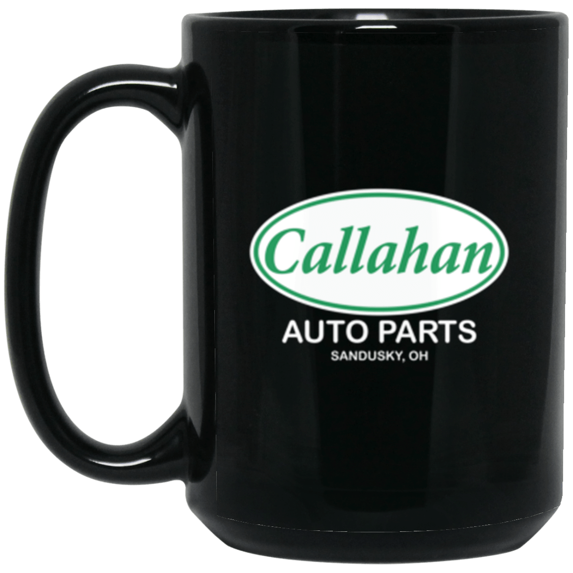 Callahan Auto Black Mug 15oz (2-sided)