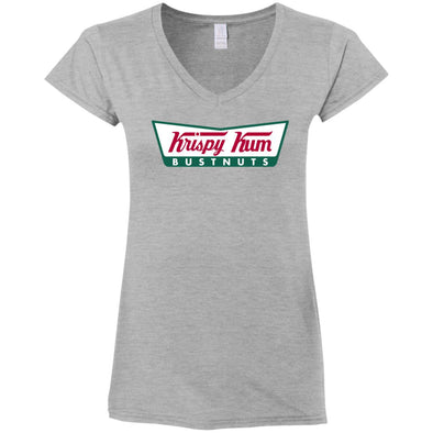 Krispy Kum Ladies Fitted V-Neck