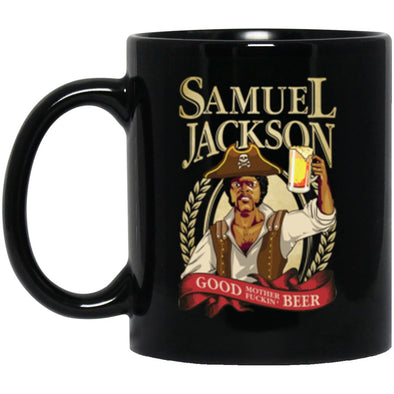 Sam Jackson Beer Black Mug 11oz (2-sided)