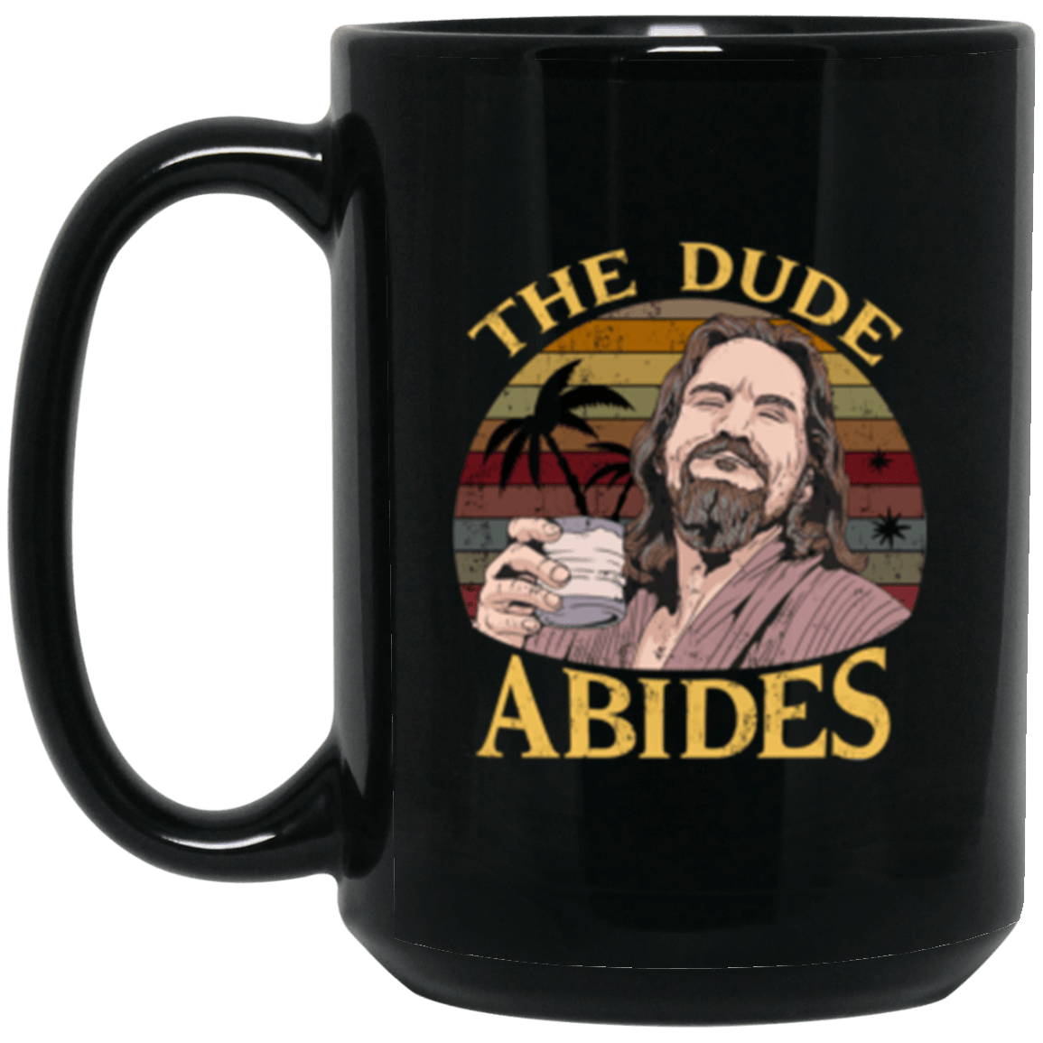 Abide Sun Black Mug 15oz (2-sided)
