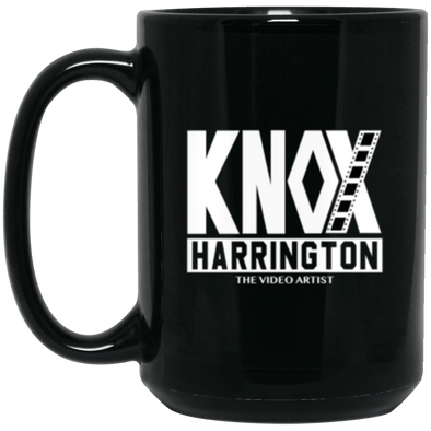 Knox Harrington Black Mug 15oz (2-sided)