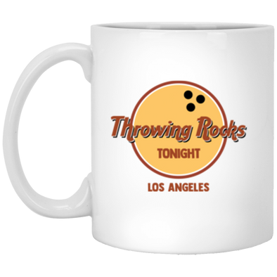 Throwing Rocks White Mug 11oz (2-sided)