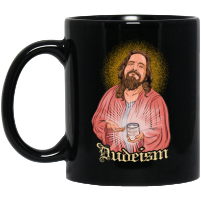 Dudeism Jesus Black Mug 11oz (2-sided)