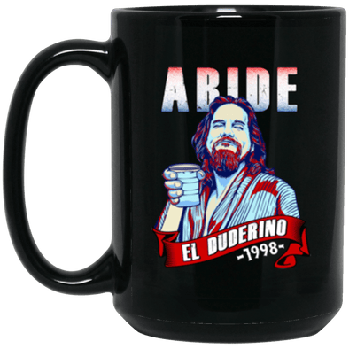 Duderino Abide Black Mug 15oz (2-sided)