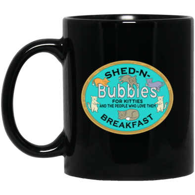 Bubbles' S&B Black Mug 11oz (2-sided)