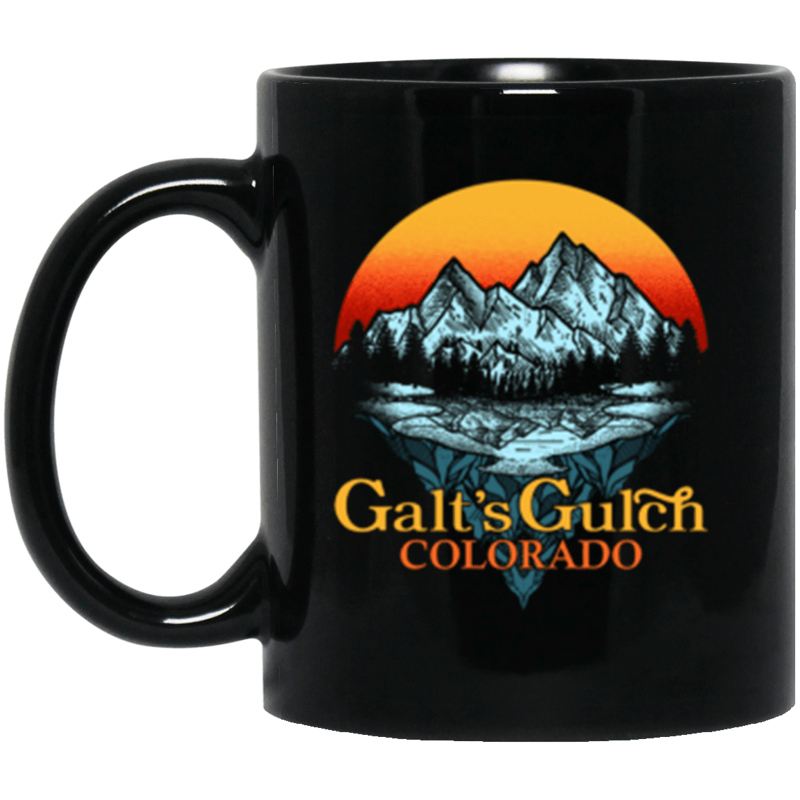 Galt's Gulch Black Mug 11oz (2-sided)
