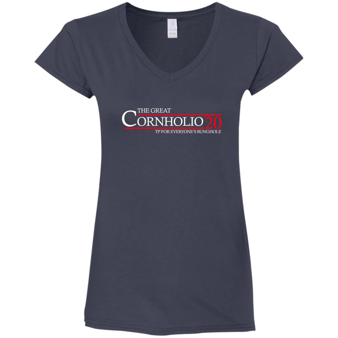 Cornholio 20 Ladies V-Neck