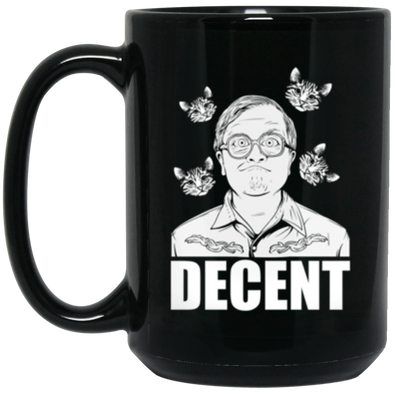 Decent Black Mug 15oz (2-sided)