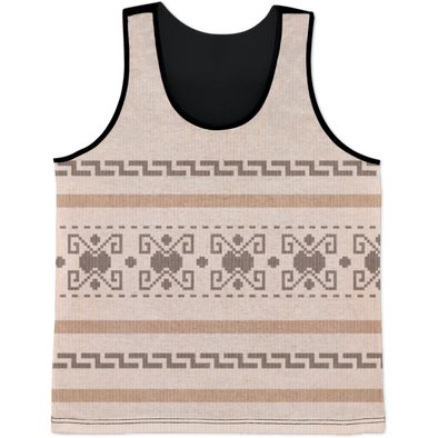 Lebowski Cardigan Pattern All Over Print Tank Top