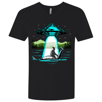 Bigfoot Nessie UFO Premium V-Neck