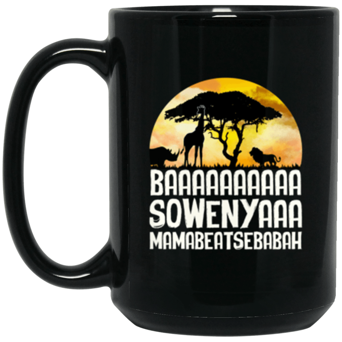 Baa Sowenya Black Mug 15oz (2-sided)