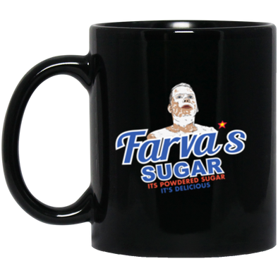 Farva Sugar Black Mug 11oz (2-sided)