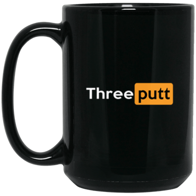 Three Putt Black Mug 15oz (2-sided)
