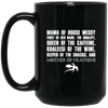 Mother of Heathens Black Mug 15oz (2-sided)