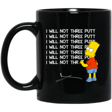 Bart Three Putt Black Mug 11oz (2-sided)
