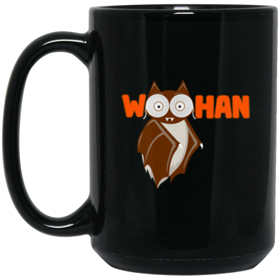 Woohan Black Mug 15oz (2-sided)