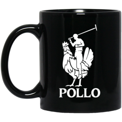 Pollo Black Mug 11oz (2-sided)