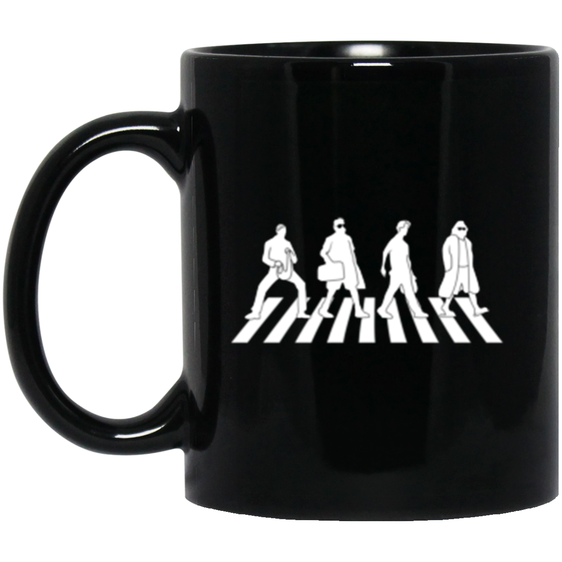 Abide Road Black Mug 11oz (2-sided)