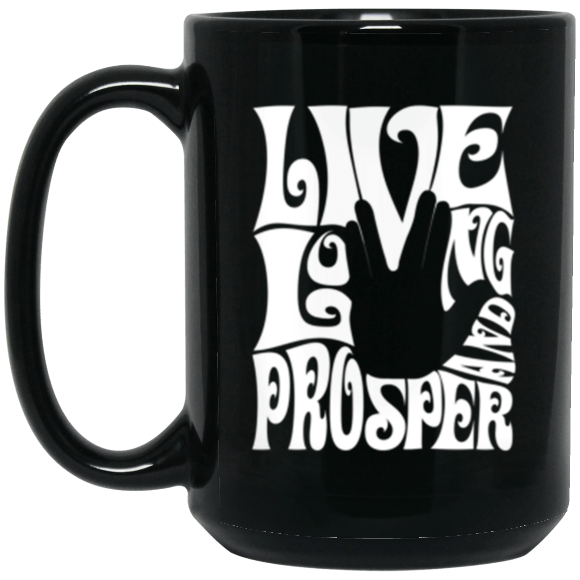 Prosper Retro Black Mug 15oz (2-sided)