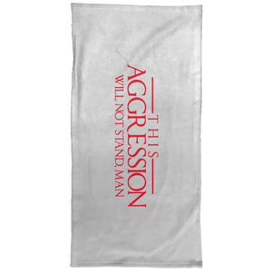 Aggression Text Hand Towel