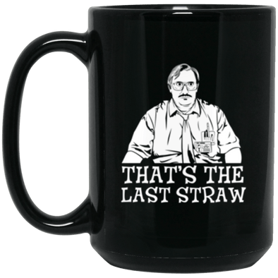 Milton Last Straw Black Mug 15oz (2-sided)