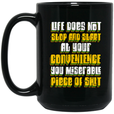 Stop and Start Black Mug 15oz (2-sided)