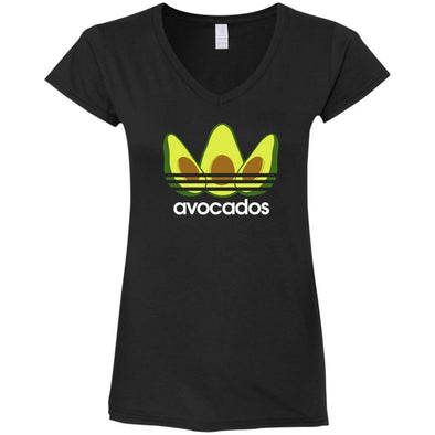 Avocados Ladies Fitted V-Neck