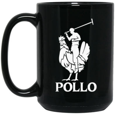 Pollo Black Mug 15oz (2-sided)