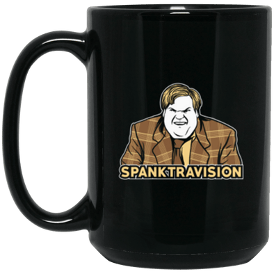 Spanktravision Black Mug 15oz (2-sided)