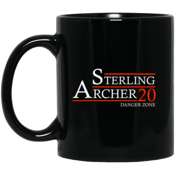 Archer 20 Black Mug 11oz (2-sided)
