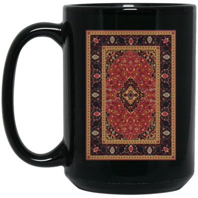 The Rug Pattern Black Mug 15oz (2-sided)