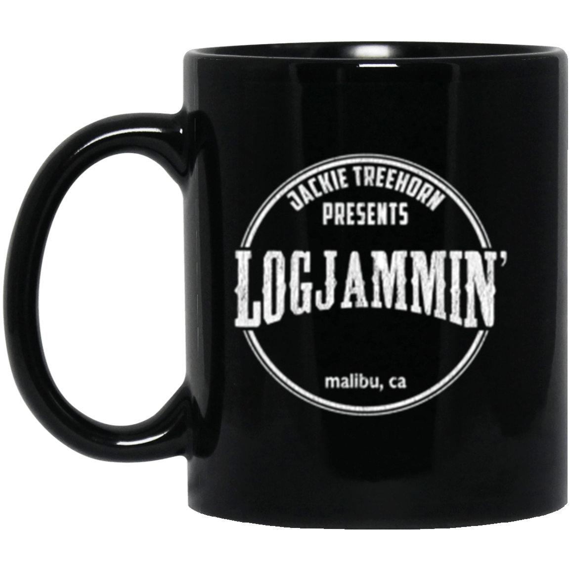 Logjammin' Black Mug 11oz (2-sided)